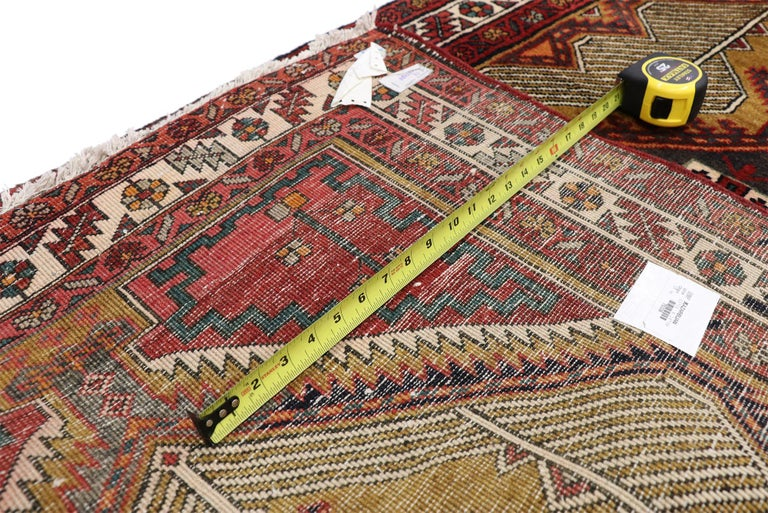 20th Century Vintage Persian Azerbaijan Runner with Tribal Art Deco Style For Sale