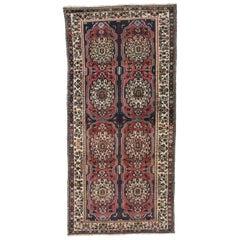 Vintage Persian Bakhtiari Gallery Rug, Long Living Room Rug
