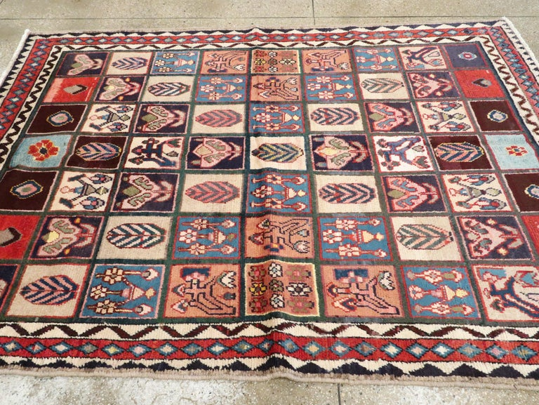 20th Century Vintage Persian Bakhtiari Rug For Sale