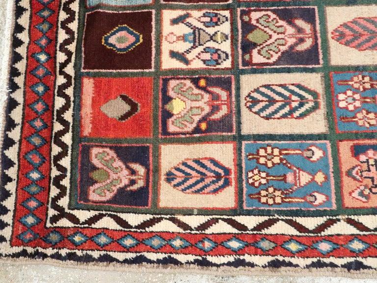 Wool Vintage Persian Bakhtiari Rug For Sale