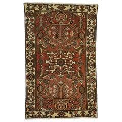 Vintage Persian Bakhtiari Rug with Mid-Century Modern Style