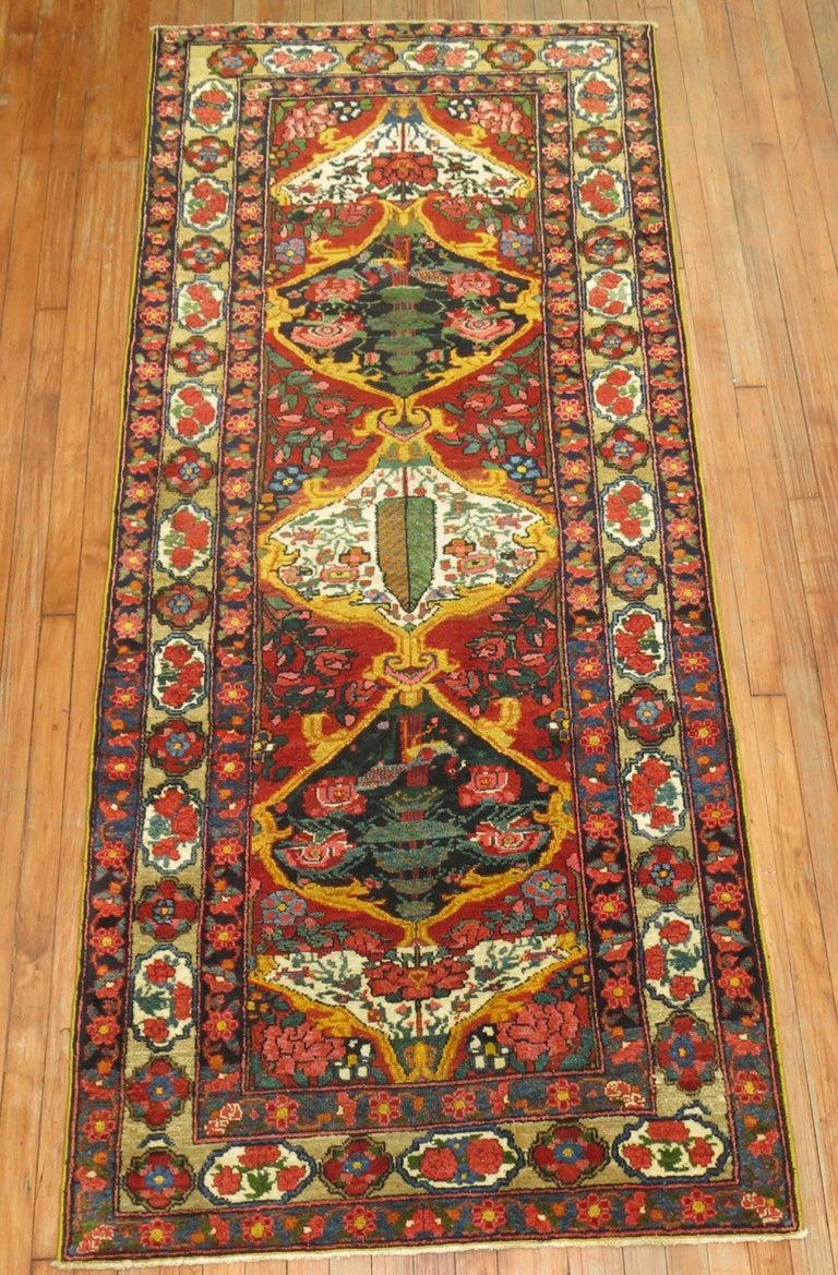 Gustavian Vintage Persian Bakhtiari Runner For Sale