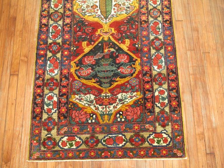 Hand-Woven Vintage Persian Bakhtiari Runner For Sale