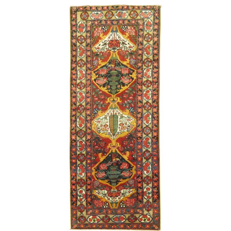 Vintage Persian Bakhtiari Runner For Sale