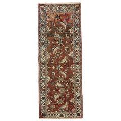 Vintage Persian Bakhtiari Runner, Traditional Style Hallway Runner