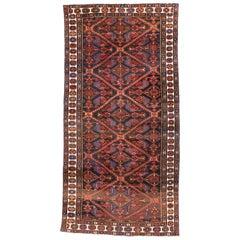 Vintage Persian Bakhtiari Wide Hallway Runner