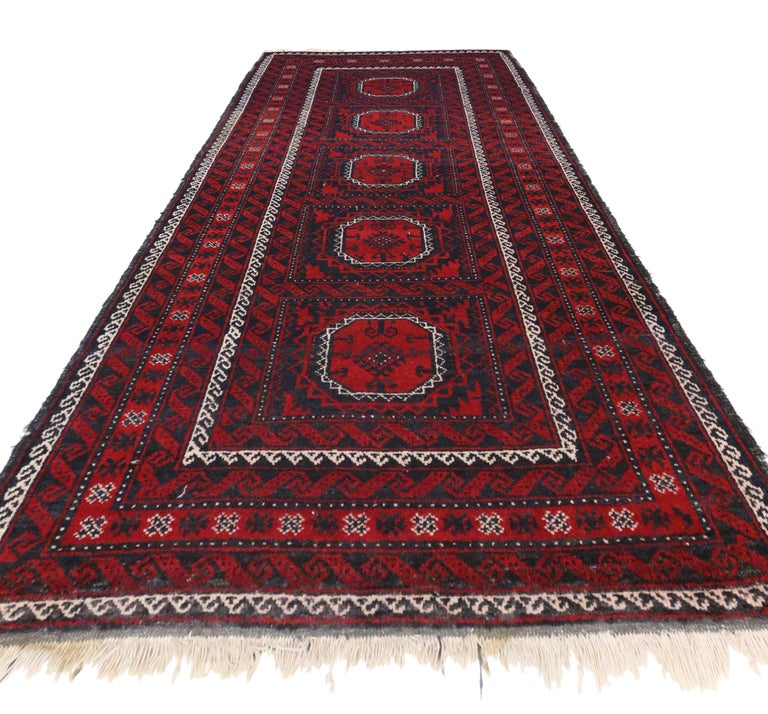 Vintage Persian Baluch Rug With Jacobean Style And
