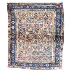 Vintage Persian Bijar Rug with French Provincial Farmhouse Style