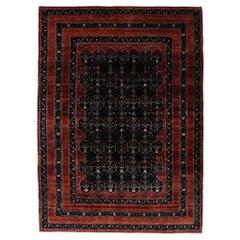Vintage Persian Bijar Rug with Old World Victorian Renaissance Style
