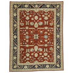 Vintage Persian Design Traditional Pakistani Rug with Federal Style
