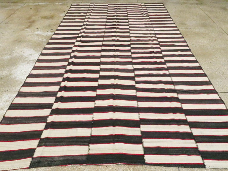 Hand-Woven Vintage Persian Flat-Weave Kilim For Sale