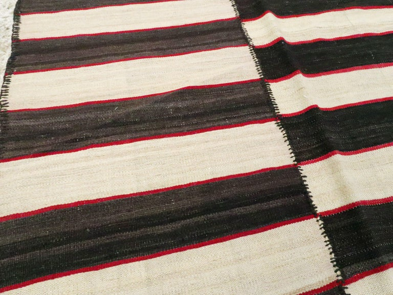 20th Century Vintage Persian Flat-Weave Kilim For Sale