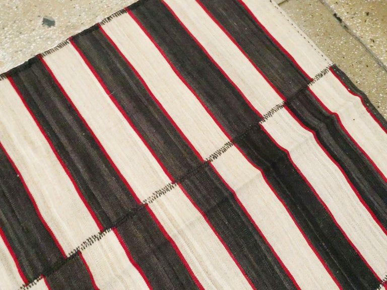 Wool Vintage Persian Flat-Weave Kilim For Sale