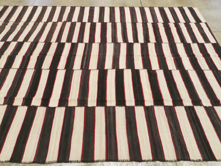 Vintage Persian Flat-Weave Kilim For Sale 2