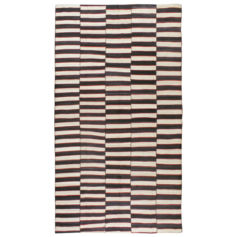 Vintage Persian Flat-Weave Kilim For Sale
