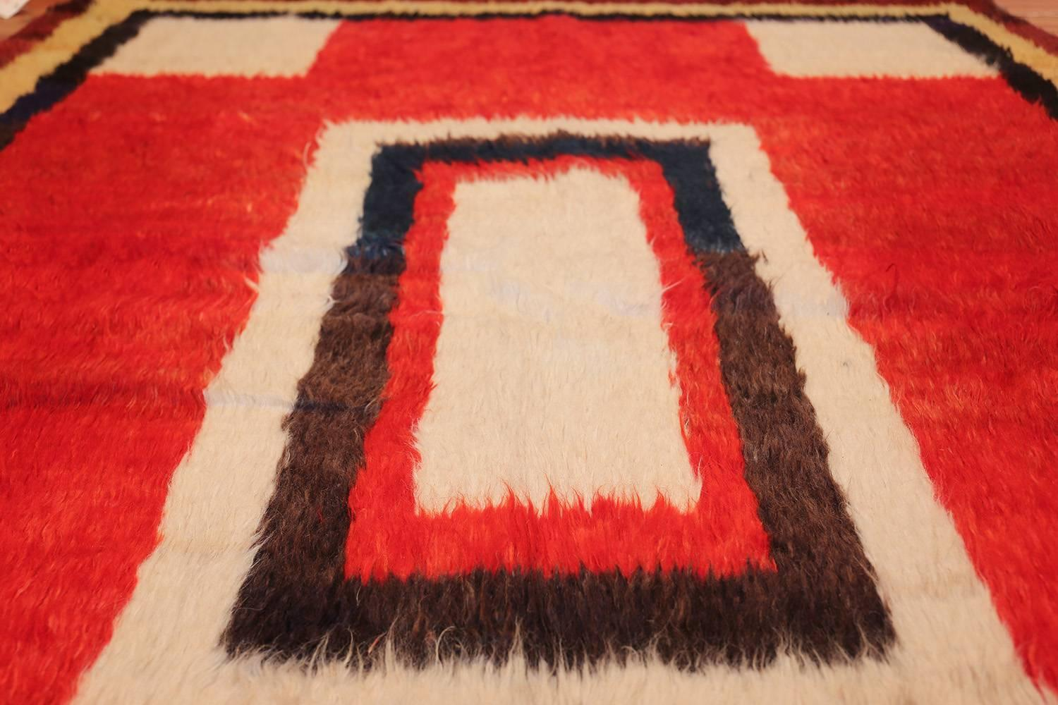 Persian Rugs Made With Extra High Pile And Very Simple, Graphic Designs  Focused On The
