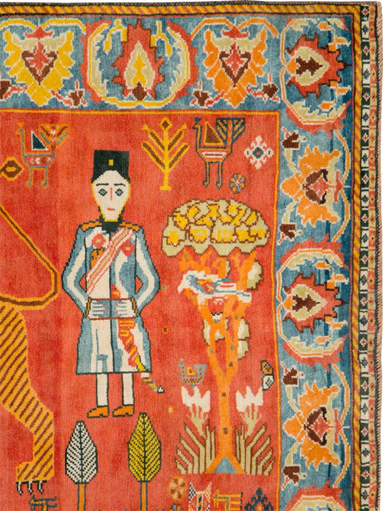 Tribal Vintage Persian Gabbeh Rug For Sale