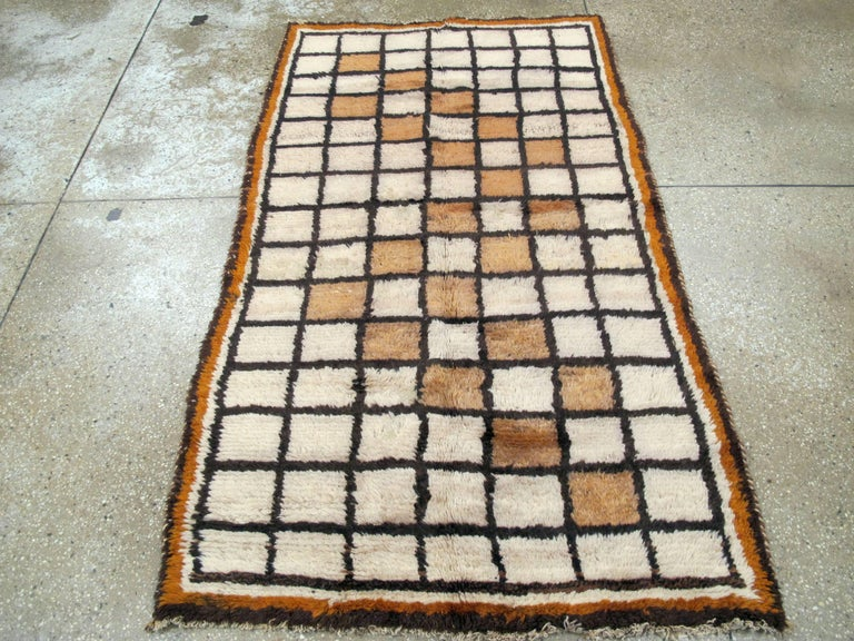 Hand-Knotted Vintage Persian Gabbeh Rug For Sale