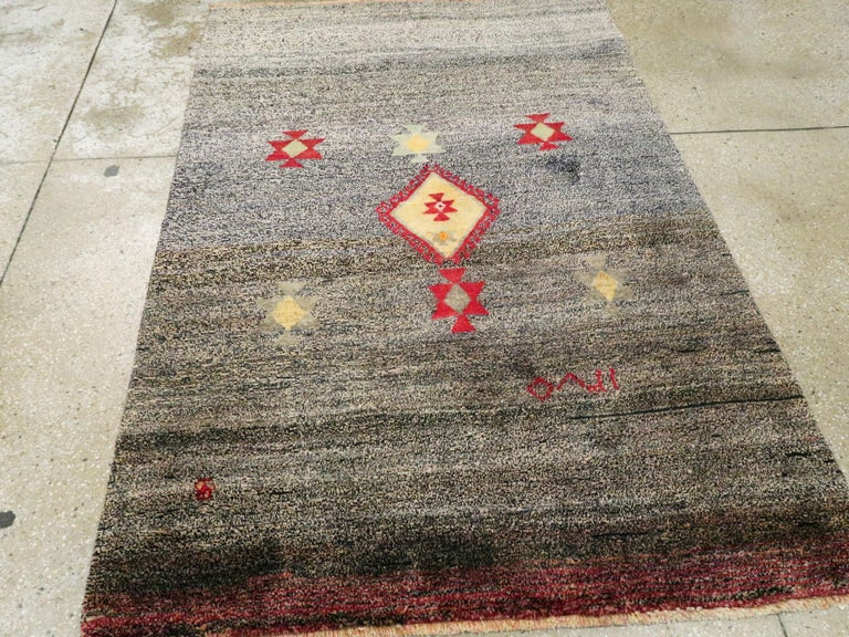 Vintage Persian Gabbeh Rug In Good Condition For Sale In New York, NY
