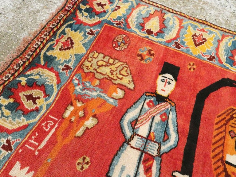 20th Century Vintage Persian Gabbeh Rug For Sale