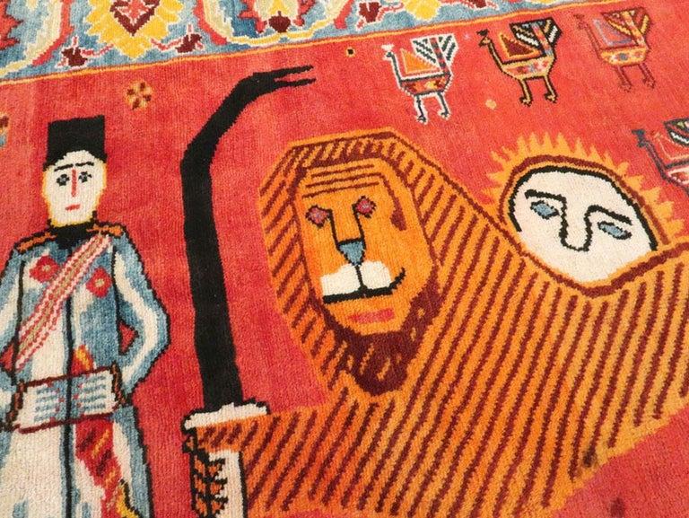Wool Vintage Persian Gabbeh Rug For Sale