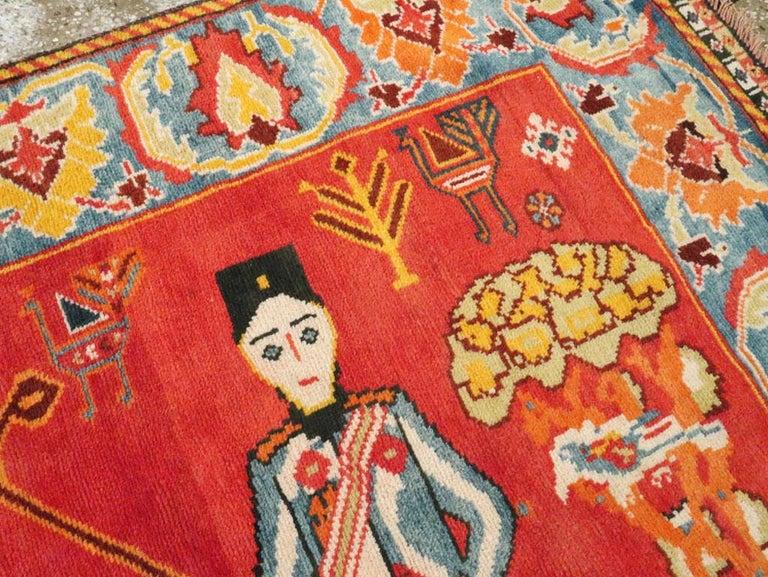 Vintage Persian Gabbeh Rug For Sale 1