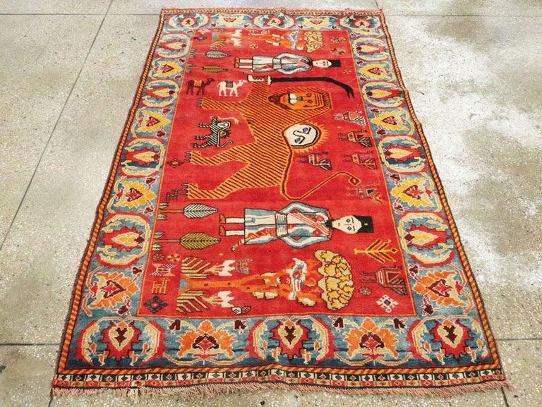 Vintage Persian Gabbeh Rug For Sale 2