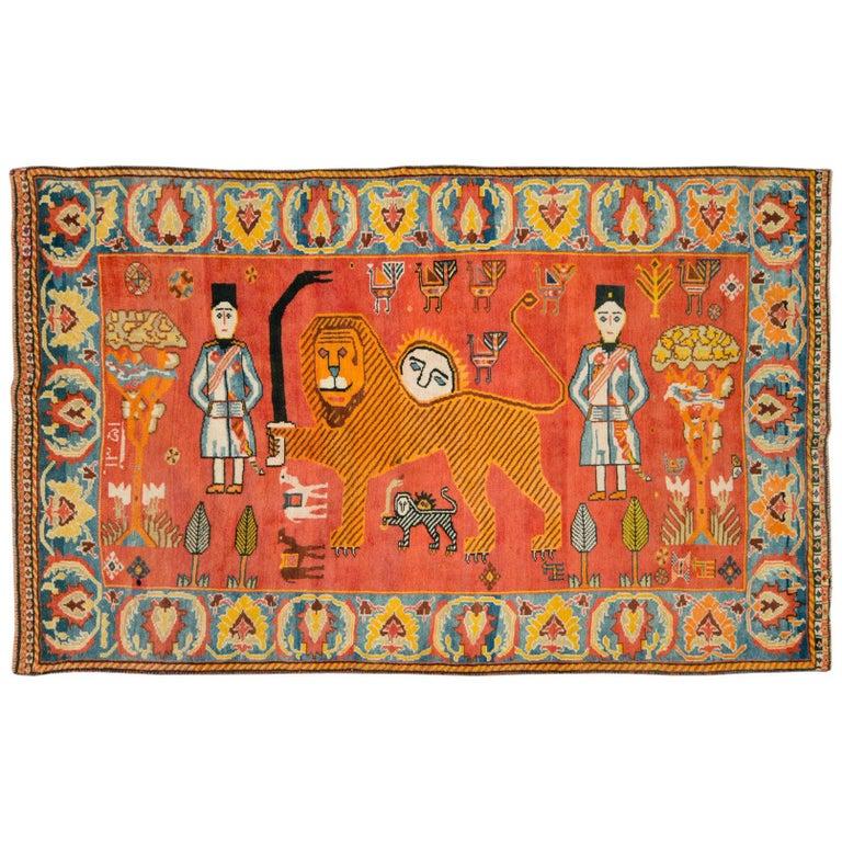 Vintage Persian Gabbeh Rug For Sale