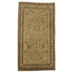 Vintage Persian Hamadan Gallery Rug with Warm, Neutral Colors