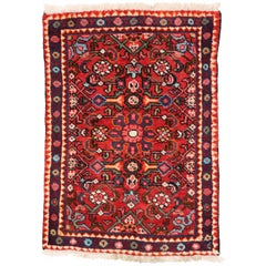 Vintage Persian Hamadan Rug for Kitchen, Bathroom, Foyer or Entry Rug