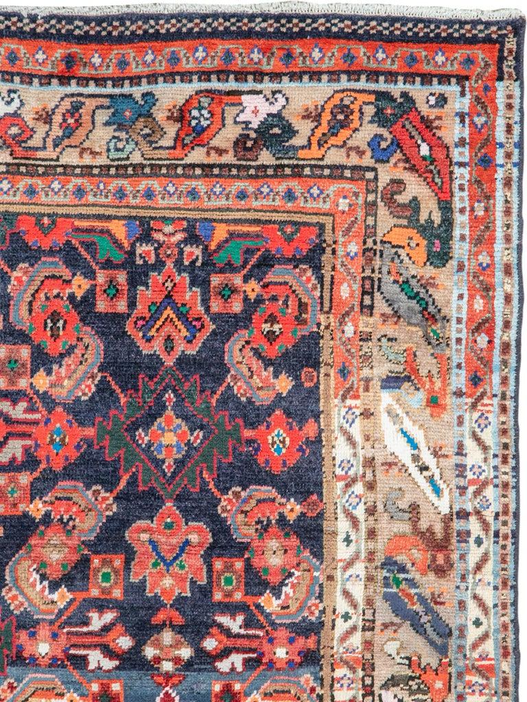 Folk Art Vintage Persian Hamadan Rug For Sale