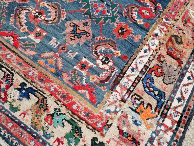 Wool Vintage Persian Hamadan Rug For Sale