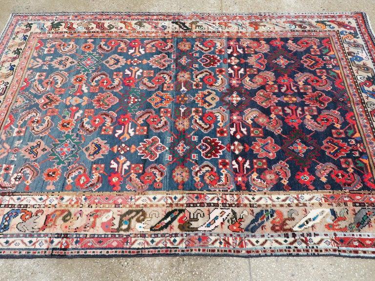 Vintage Persian Hamadan Rug For Sale 1