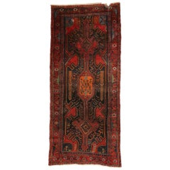 Vintage Persian Hamadan Rug with Modern Tribal Style