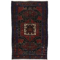 Vintage Persian Hamadan Rug with Modern Tribal Style