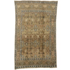 Vintage Persian Hamadan Rug with Traditional Modern Style