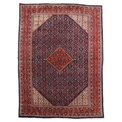 Vintage Persian Hamadan Rug with Traditional Style and Malayer Herati Design