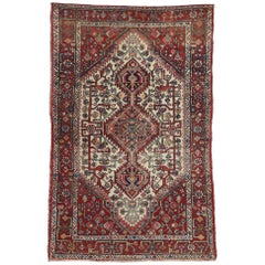 Vintage Persian Hamadan Rug with Tribal Style