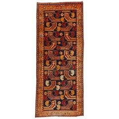 Vintage Persian Hamadan Runner with Modern Tribal Style, Wide Hallway Runner