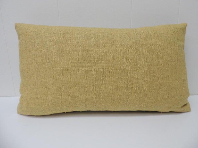 Turkish Vintage Persian Hand-Blocked Kalamkari Lumbar Decorative Throw Pillow For Sale