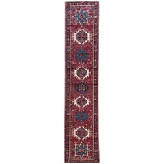 Vintage Persian Hand-Knotted Karajeh Tribal 1960 Runner