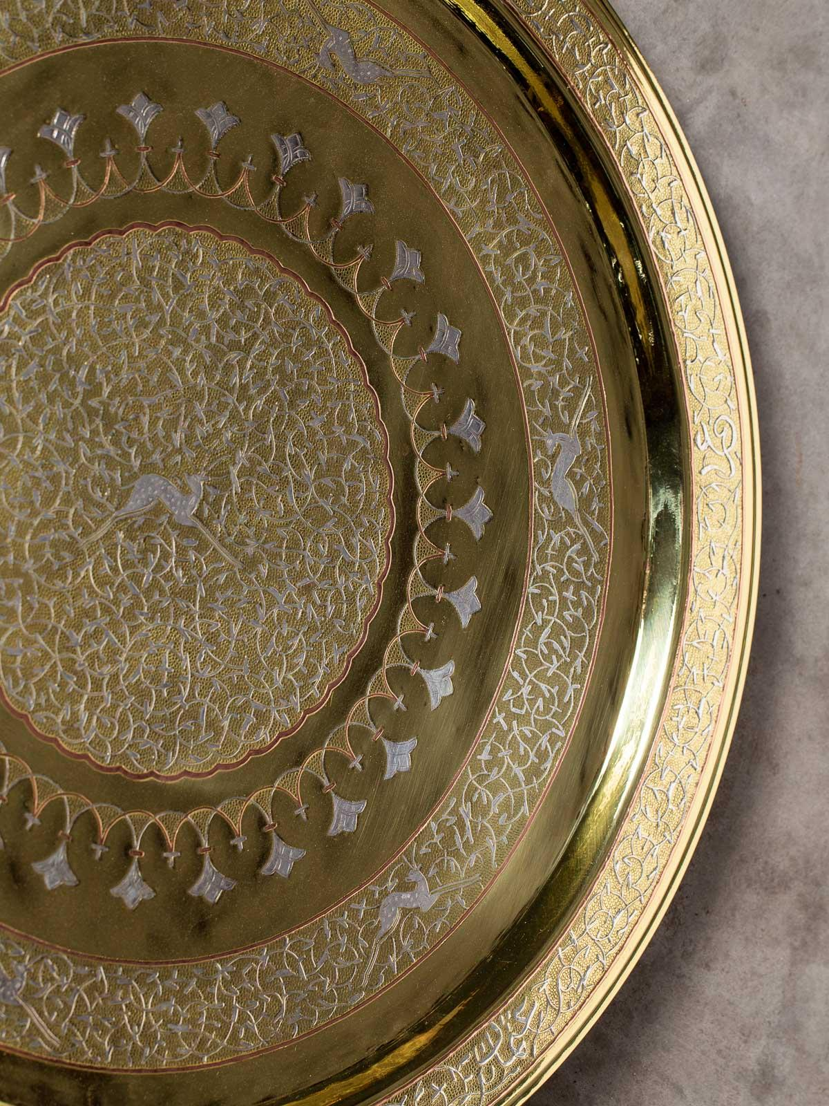 Home & Hearth Antique Brass And Coooer Plates Made In Hullan Various Styles