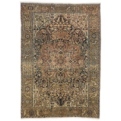 Vintage Persian Heriz Area Rug with Arts & Crafts Artisan Style