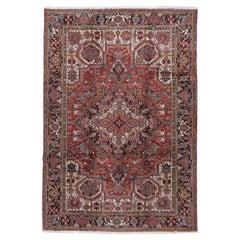 Vintage Persian Heriz Rug 6'8 x 10'7