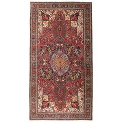 Vintage Handmade Persian Heriz Oversize Rug