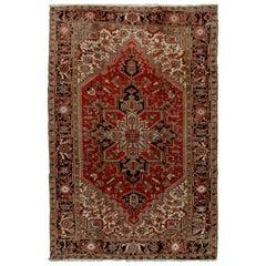 Vintage Persian Heriz Rug 7' x 10'2
