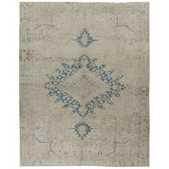 Vintage Persian Heriz Rug 9'4 x 11'10