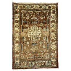 Vintage Persian Heriz Rug with Bungalow Craftsman Style