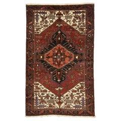 Vintage Persian Heriz Rug with Mid-Century Modern Style
