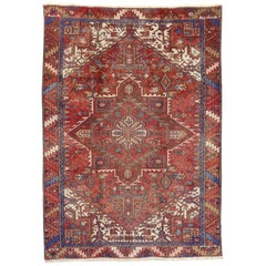 Vintage Persian Heriz Rug with Modern English Cottage Tudor Style